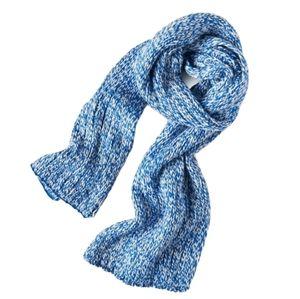 Aeropostale Rib Knit Chunky Scarf Blue & White NWT